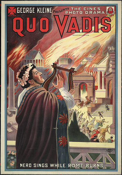 Quo_vadis_poster-nero-plays-while-rome-burns