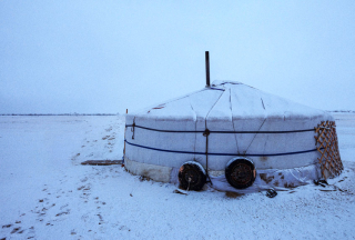 Snow-covered-yurt